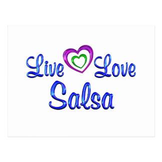 Live Love Salsa Postcard
