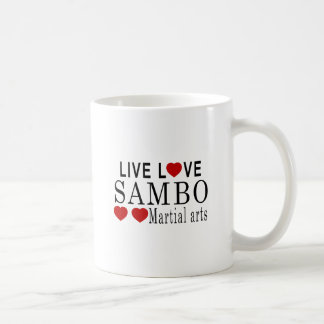 LIVE LOVE SAMBO MARTIAL ARTS COFFEE MUG
