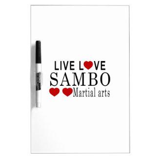 LIVE LOVE SAMBO MARTIAL ARTS DRY ERASE BOARD