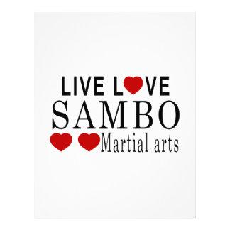 LIVE LOVE SAMBO MARTIAL ARTS LETTERHEAD