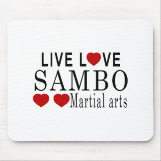 LIVE LOVE SAMBO MARTIAL ARTS MOUSE PAD