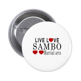 LIVE LOVE SAMBO MARTIAL ARTS PINBACK BUTTON