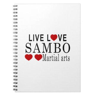 LIVE LOVE SAMBO MARTIAL ARTS SPIRAL NOTEBOOK