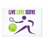 Live. Love. Serve. 5x7 Paper Invitation Card