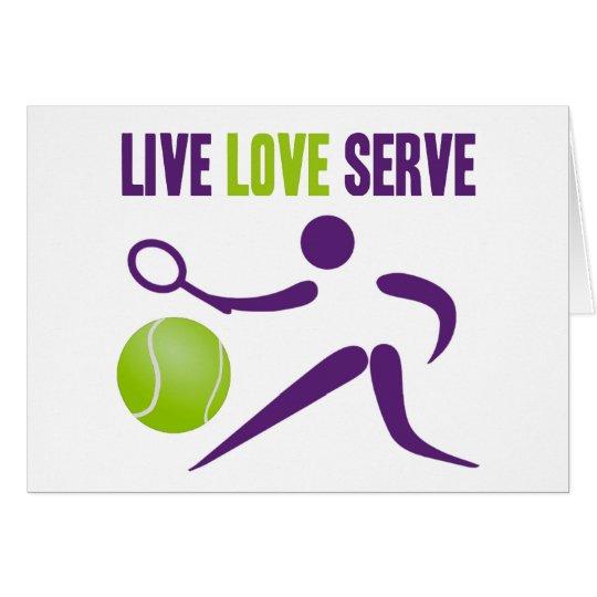Live. Love. Serve. Card