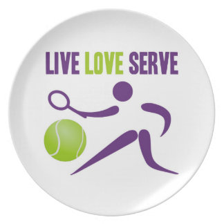 Live. Love. Serve. Dinner Plate