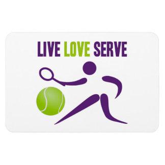 Live. Love. Serve. Rectangular Photo Magnet