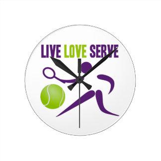 Live. Love. Serve. Round Clock