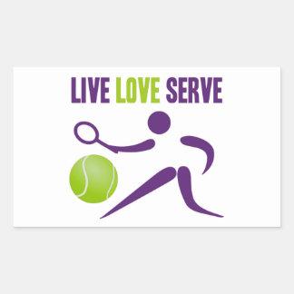 Live. Love. Serve. Rectangular Sticker