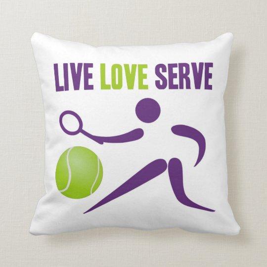 Live. Love. Serve. Throw Pillow
