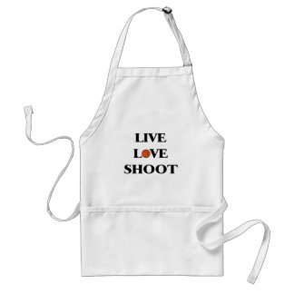 Live Love Shoot (Basketball) Adult Apron