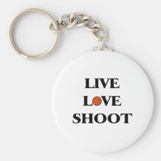 Live Love Shoot (Basketball) Basic Round Button Keychain