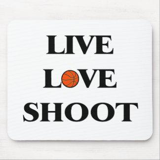 Live Love Shoot (Basketball) Mouse Pad