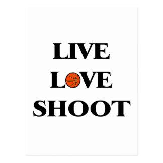 Live Love Shoot (Basketball) Post Card