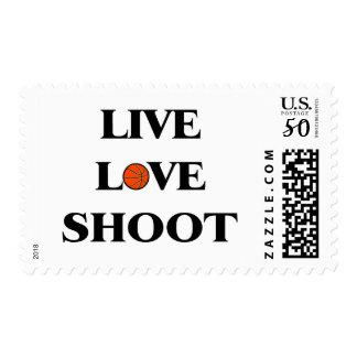 Live Love Shoot (Basketball) Postage