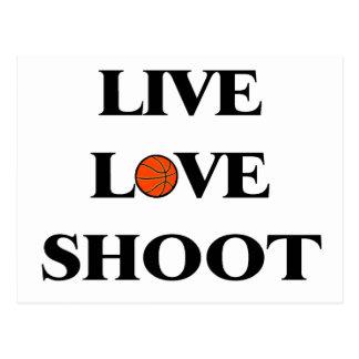 Live Love Shoot (Basketball) Postcard