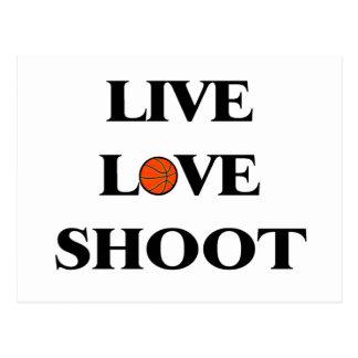 Live Love Shoot Basketball Postcard