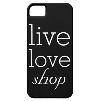 Live, Love, Shop Cell Phone Case Cover Template iPhone 5 Case