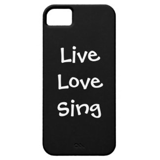 Live Love Sing iPhone SE/5/5s Case