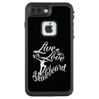 LIVE - LOVE - SKATEBOARD LifeProof FRĒ iPhone 7 PLUS CASE