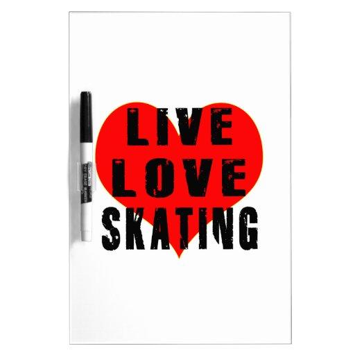 Live Love Skating Dry-Erase Whiteboards