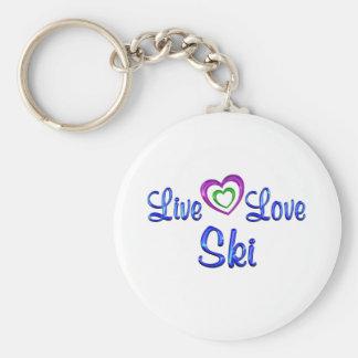 Live Love Ski Keychain