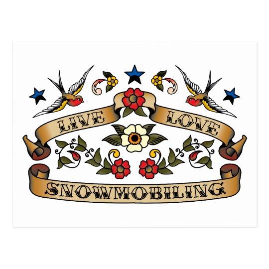 Live Love Snowmobiling Postcard