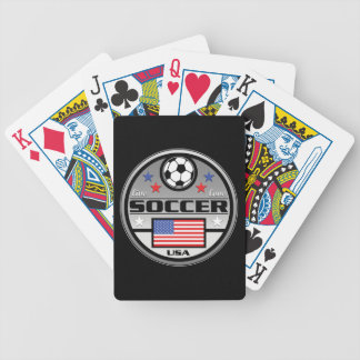 Live Love Soccer America Bicycle Playing Cards