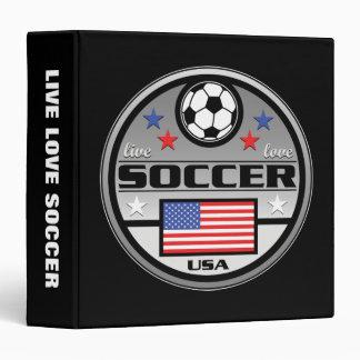 Live Love Soccer America 3 Ring Binder