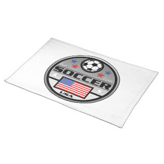 Live Love Soccer America Cloth Placemat