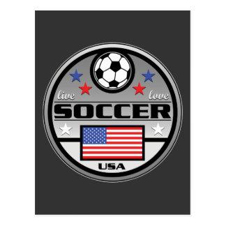 Live Love Soccer America Postcard