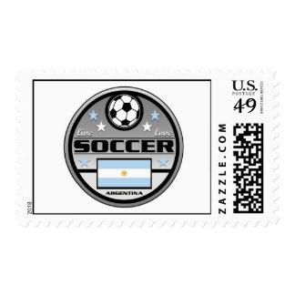 Live Love Soccer Argentina Postage Stamps