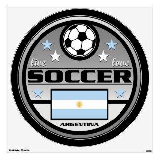 Live Love Soccer Argentina Wall Sticker