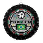 Live Love Soccer Brazil Dart Board