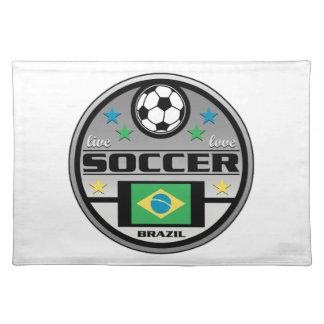 Live Love Soccer Brazil Placemat
