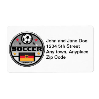 Live Love Soccer Germany Shipping Label