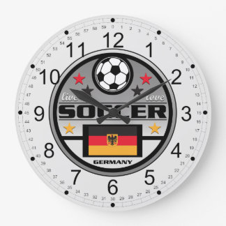 Live Love Soccer Germany Large Clock
