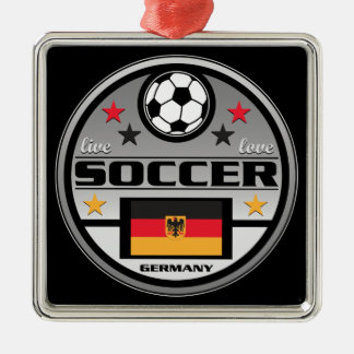 Live Love Soccer Germany Metal Ornament