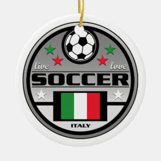 Live Love Soccer Italy Ceramic Ornament