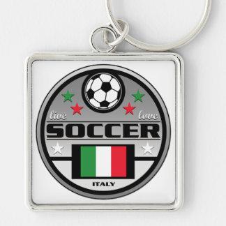 Live Love Soccer Italy Keychain