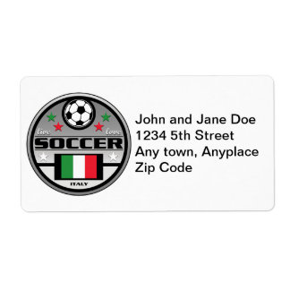 Live Love Soccer Italy Custom Shipping Labels