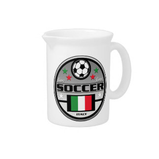 Live Love Soccer Italy Drink Pitchers