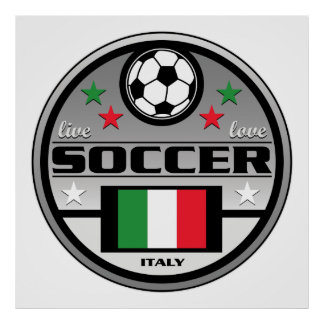 Live Love Soccer Italy Poster