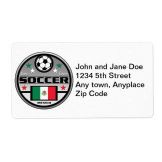 Live Love Soccer Mexico Label