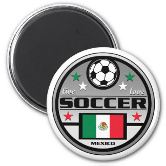 Live Love Soccer Mexico Refrigerator Magnets