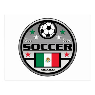 Live Love Soccer Mexico Postcard