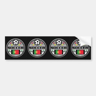 Live Love Soccer Portugal Car Bumper Sticker