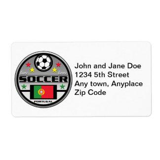 Live Love Soccer Portugal Shipping Label