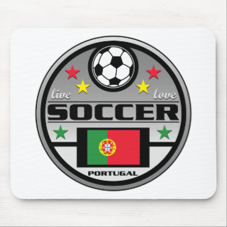 Live Love Soccer Portugal Mouse Pad