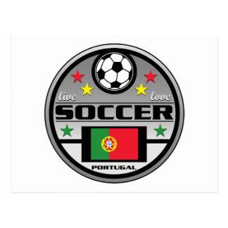 Live Love Soccer Portugal Postcard